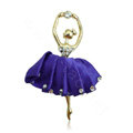 Ballet girl Alloy Crystal Metal DIY Phone Case Cover Deco Kit - Purple