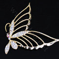 Butterfly Alloy Crystal Metal DIY Phone Case Cover Deco Kit - Gold