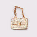 Diamond Handbag Crystal Alloy Metal DIY Phone Case Cover Deco Kit - Gold