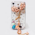 Dragonfly Bling Crystal Case Rhinestone Cover shell for iPhone 4G 4S - Pink