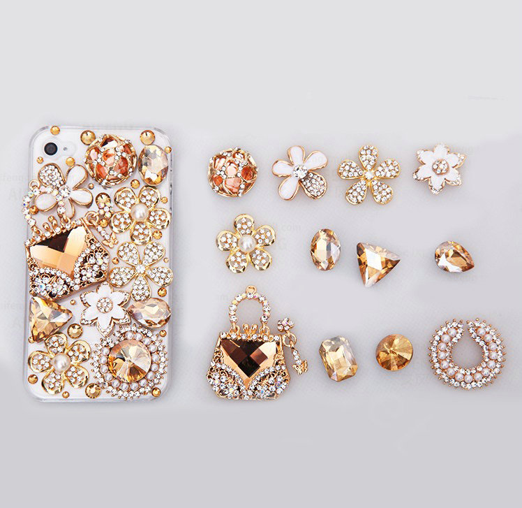 Buy Wholesale Flowers Alloy Bling Bag Crystal DIY Cell Phone Case ... 9010a7b59723