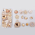 Flowers Alloy Bling Bag Crystal DIY Cell Phone Case shell Cover Deco Den Kits