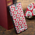 Flowers Painting Cover Matte Hard Case Skin for OPPO X909 Find 5 - Red