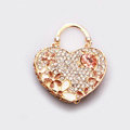 Lover Handbag Crystal Alloy Metal DIY Phone Case Cover Deco Kit - Gold