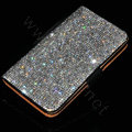 Luxury Bling Holster Cover Crystal Leather Case for Samsung N7100 GALAXY Note2 - White