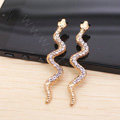 Snake Alloy Crystal Metal DIY Phone Case Cover Deco Kit - Gold