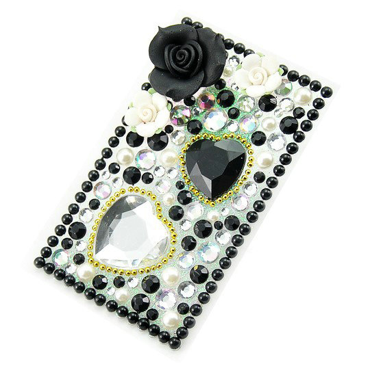 Buy wholesale black 3d flower crystal bling rhinestone for Rhinestone jewels for crafts
