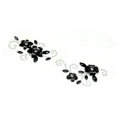 Black Flower Crystal Bling Rhinestone mobile phone DIY Craft Jewelry Stickers