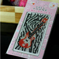 Black Guitar Crystal Bling Rhinestone mobile phone DIY Craft Jewelry Stickers