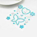 Blue Butterfly Crystal Bling Rhinestone mobile phone DIY Craft Jewelry Stickers