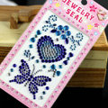 Blue Butterfly Love Crystal Bling Rhinestones mobile phone DIY Craft Jewelry Stickers