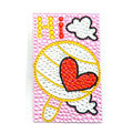 Pink Love lollipop Crystal Bling Rhinestone mobile phone DIY Craft Jewelry Stickers