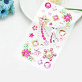 Pink Star Flower Crystal Bling Rhinestone mobile phone DIY Craft Jewelry Stickers