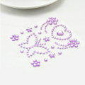 Purple Butterfly Crystal Bling Rhinestone mobile phone DIY Craft Jewelry Stickers