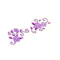 Purple Flower Crystal Bling Rhinestone mobile phone DIY Craft Jewelry Stickers