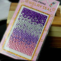 Purple Gradient Crystal Bling Rhinestone mobile phone DIY Craft Jewelry Stickers