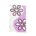 Purple Sunflower Crystal Bling Rhinestone mobile phone DIY Craft Jewelry Stickers