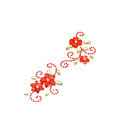 Red Flower Crystal Bling Rhinestone mobile phone DIY Craft Jewelry Stickers