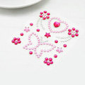 Rose Butterfly Crystal Bling Rhinestone mobile phone DIY Craft Jewelry Stickers