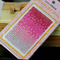 Rose Gradient Crystal Bling Rhinestone mobile phone DIY Craft Jewelry Stickers
