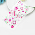 Rose Star Flower Crystal Bling Rhinestone mobile phone DIY Craft Jewelry Stickers