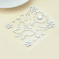 White Butterfly Crystal Bling Rhinestone mobile phone DIY Craft Jewelry Stickers