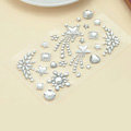 White Star Flower Crystal Bling Rhinestone mobile phone DIY Craft Jewelry Stickers
