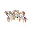 Hair Jewelry Rhinestone Crystal Bowknot Metal Hair Clip Claw Clamp - Multicolor