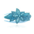 Hair Jewelry Rhinestone Crystal Flower Hairpin Hair Clip Claw Clamp - Blue