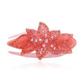 Hair Jewelry Rhinestone Crystal Flower Hairpin Hair Clip Claw Clamp - Pink