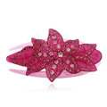 Hair Jewelry Rhinestone Crystal Flower Hairpin Hair Clip Claw Clamp - Purple
