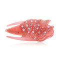 Hair Jewelry Rhinestone Crystal Ice cream Hairpin Hair Clip Claw Clamp - Pink
