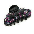 Hair Jewelry Sparkly Crown Crystal Rhinestone Hair Clip Claw Clamp - Black