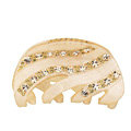 Hair Jewelry Sparkly Diamond Crystal Rhinestone Hair Clip Claw Clamp - Champagne