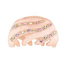 Hair Jewelry Sparkly Diamond Crystal Rhinestone Hair Clip Claw Clamp - Pink