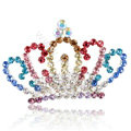 Alloy Crown Bride Hair Accessories Crystal Rhinestone Hair Pin Clip Combs - Multicolor