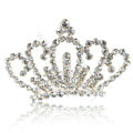 Alloy Crown Bride Hair Accessories Crystal Rhinestone Hair Pin Clip Combs - White