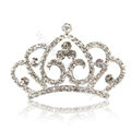Crown Alloy Bride Hair Accessories Crystal Rhinestone Hair Pin Clip Combs - White