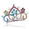 Hair Accessories Crystal Rhinestone Alloy Crown Bride Hair Pin Clip Combs - Multicolor