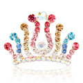 Hair Accessories Crystal Rhinestone Alloy Crown Hair Pin Combs Clip - Multicolor