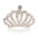 Mini Alloy Crown Hair Accessories Crystal Rhinestone Hair Pin Clip Combs - White