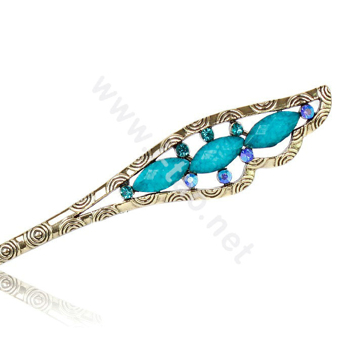 Buy Wholesale Retro Tassel Crystal Rhinestone Wing Hairpin Hair Clasp ...