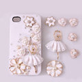 Alloy flower Ballerina Rhinestone Crystal DIY Cell Phone Case Cover Deco Den Kits