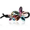 Diamond Crystal Flower Twist Hair Clip Slide Clamp Hair Accessories - Multicolor