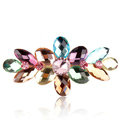 Rhinestone Crystal Flower Hair Clip Barrette Metal Hair Slide - Multicolor