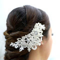 Wedding Bride Jewelry Crystal Lace Hair Comb Headband Flower Hair Accessories