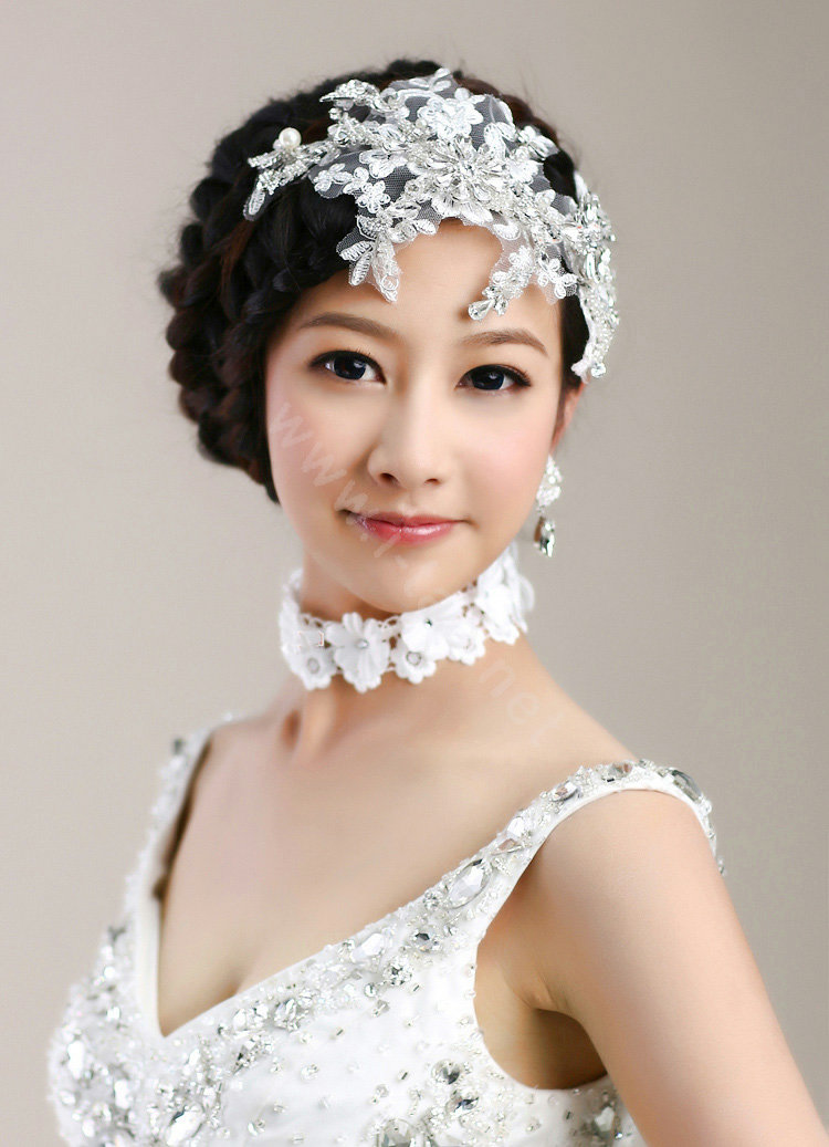 Buy Wholesale Wedding Bride Jewelry Crystal Lace Pearl Headpiece