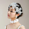 Wedding Bride Jewelry Crystal Lace Pearl Headpiece Headband Flower Hair Accessories