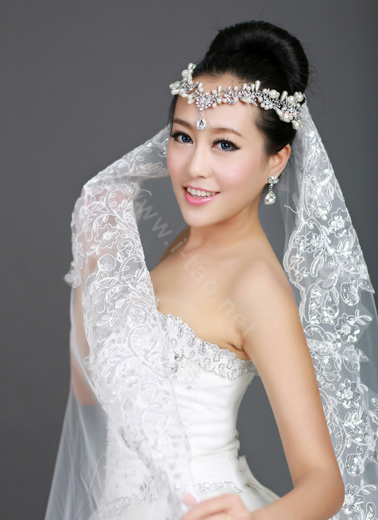 Name Wedding Bride Jewelry Pearl Crystal Tiaras Headpiece Headband Hair Accessories More Images