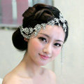 Wedding Bride Jewelry Rhinestone Crystal tassels Headpiece Headband Hair Accessories